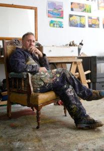 Eamon Colman in his studion